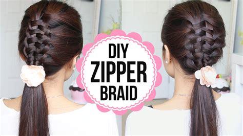 zipper braid hair tutorial  ways braided hairstyles