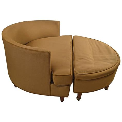 wide chair and ottoman large circular chair and ottoman after pearsall for sale