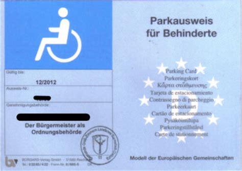 schwerbehindertenausweis g parken balkenmangel na und schwerbehidertenausweis