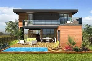 Maison Modulaire Bois : maison modulaire moderne bois 65 m construction modulaire ~ Melissatoandfro.com Idées de Décoration