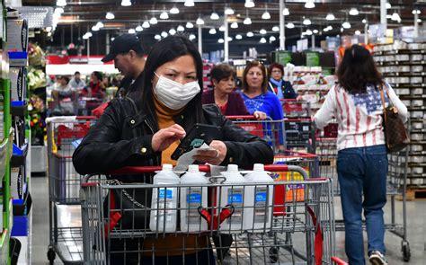 Coronavirus Fears See Mask, Hand Sanitizer, Water, Toilet