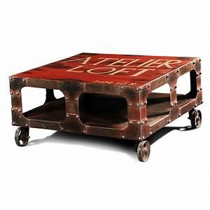 Table Basse Loft : table basse atelier loft achat vente table basse table basse atelier loft cdiscount ~ Teatrodelosmanantiales.com Idées de Décoration