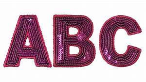 pink sequin letters With large sequin letters