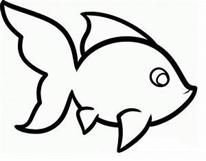 Simple Fish Outline - Cliparts.co