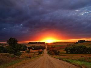 Amazing, View, Of, Sunset, Nature, Hd, Wallpaper