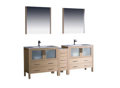 double sink bathroom vanity  light oak