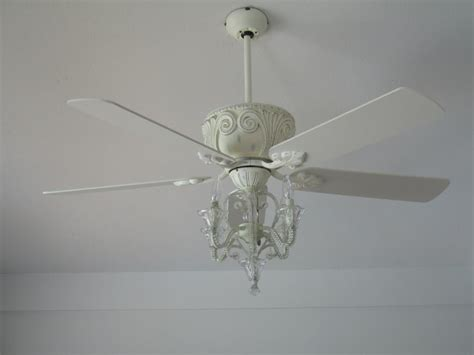fresh chandelier ceiling fan antique white 17133