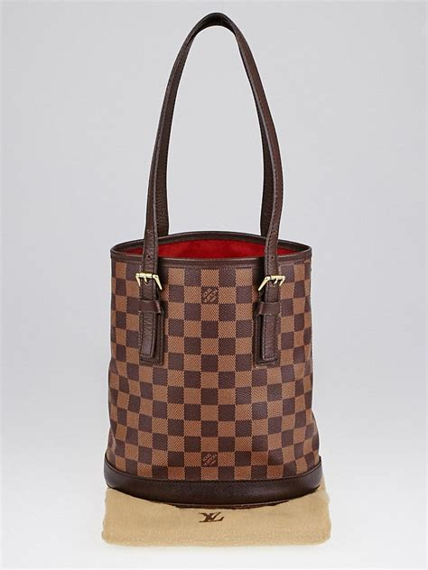 louis vuitton damier canvas marais bucket bag yoogis closet