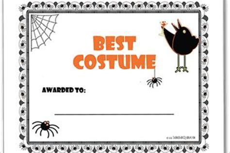 halloween certificate templates  printable word