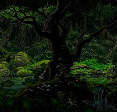 Trees Animated Forest Tree Nature Gifs Transparent