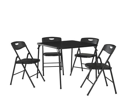 folding table and bench set cosco products 5 pc folding table and chair set black