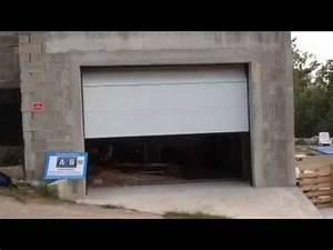 porte de garage sectionnelle plafond motorisee posee par With port de garage sectionnelle