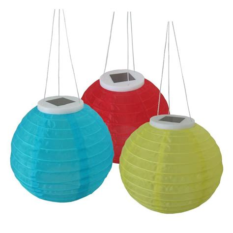 3 decorative hanging solar lanterns