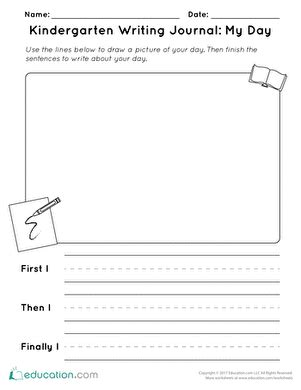 printable kindergarten journal