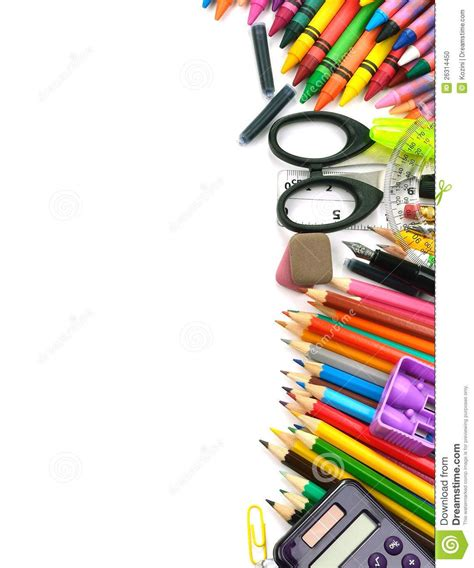 School and office supplies Background clipart Free