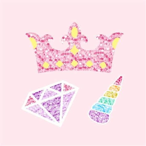 The unicorns are so adorable, thank you so much for sharing! Cute unicorn photo booth party props vector - Download ...