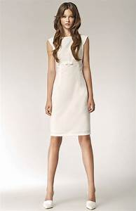 16 best les robes blanches images on pinterest With robe fourreau midi