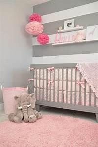 Ideen Kinderzimmer Mädchen : inspiration kinderzimmer grau rosa und spektakul re ~ Lizthompson.info Haus und Dekorationen