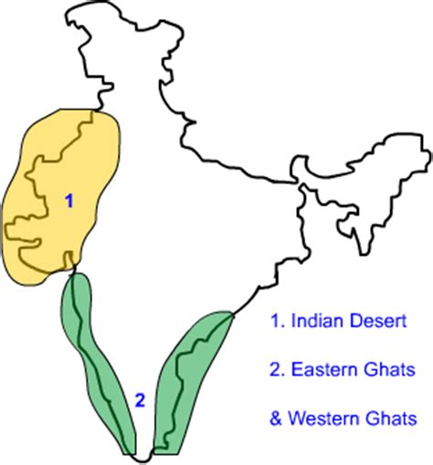 eastern and western ghats nine geography physical features of india peninsular plateau