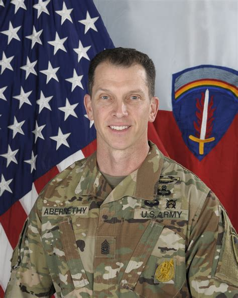 command sgt maj robert abernethy  army europe