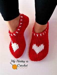 Ergahandmade  Crochet Heart Slippers   Diagram   Free Patterns