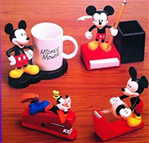 disney office desk accessories amazon com disney mickey mouse 4 piece desk collection w