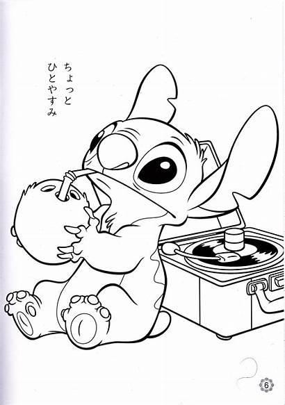 Disney Coloring Stitch Walt Characters Fanpop
