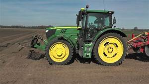 John Deere 6155r And 6410 Used In Potato Planting With