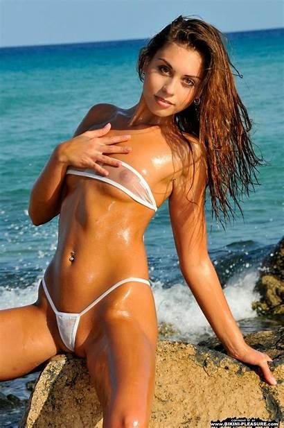 Bikini Sheer Oily Bikinis Sabrisse Babes Swimwear