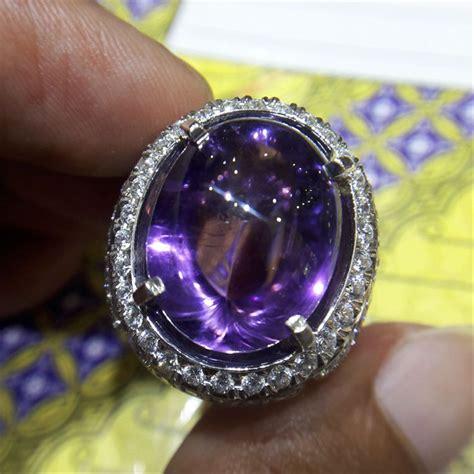 jual cincin pria batu kecubung kalimantan 0071 perak handmade cincin dan batu batu permata di