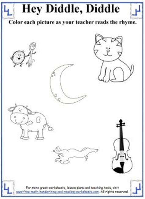 kindergarten rhyming worksheets printable