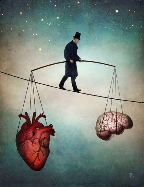 es ist manchmal schwer kopf herz  balance zu halten