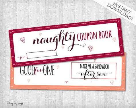 Coupon Book Template For Boyfriend by Printable Coupons For Boyfriend Husband Significant