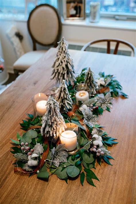 diy holiday greenery table runner katies bliss