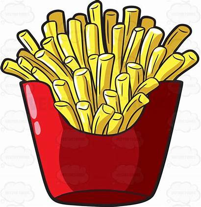 Fries French Clipart Fast Clip Chain Unhealthy