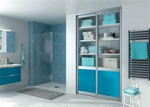 accessoires salle de bain bleu lagon With meuble salle de bain bleu lagon