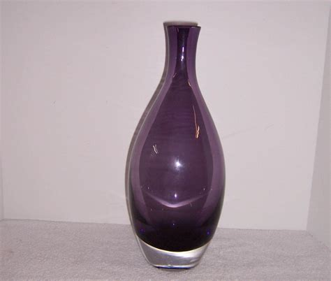 Purple Glass Vase by A Resale Tarnow Purple Glass Vase Poland