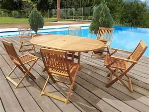 Salon De Jardin Pliant : salon de jardin en bois exotique taipei bali 1 table ~ Dailycaller-alerts.com Idées de Décoration