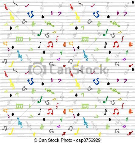 vecteurs eps de seamless mod 232 le papier peint musique