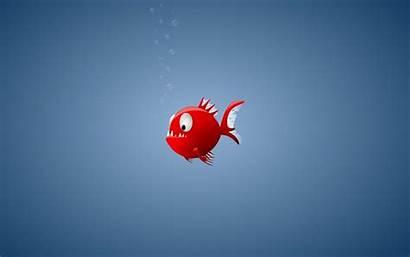Fish Wallpapers Funny Piranha Cartoons Cartoon Miscellaneous