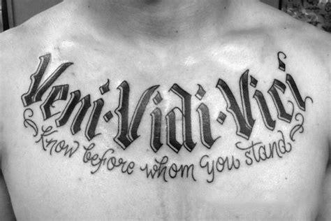 Veni Vidi Vici Tattoo Ideas Tattoo Art