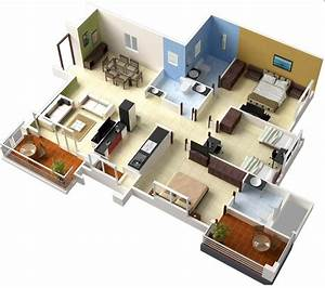 single floor 3 bedroom house plans | Interior Design Ideas.