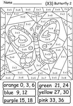 multiplication colour color  code butterflies