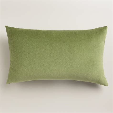 world market pillows iguana green velvet lumbar pillow world market