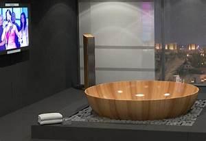 Freistehende Badewanne Holz : drei neue exklusive holz badewannen von bagno sasso luxusbadewannen aus holz ~ Yasmunasinghe.com Haus und Dekorationen