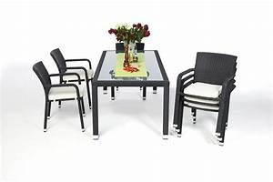 Gartentisch Und Stühle Set : rattan gartenm bel garten tisch und st hle orlando 180 schwarz ~ Bigdaddyawards.com Haus und Dekorationen