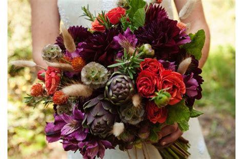 Dark + Romantic Wedding Flowers- Deep Red And Purple