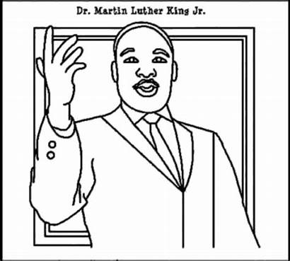 Luther Martin King Coloring Jr Pages Step