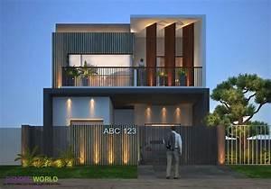 Latest, Modern, Exterior, Modern, House, Front, Elevation, Designs, U2013, Trendecors