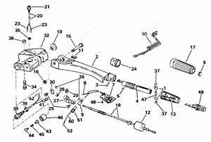 Evinrude 1996 50 - E50ttledc  Steering Handle